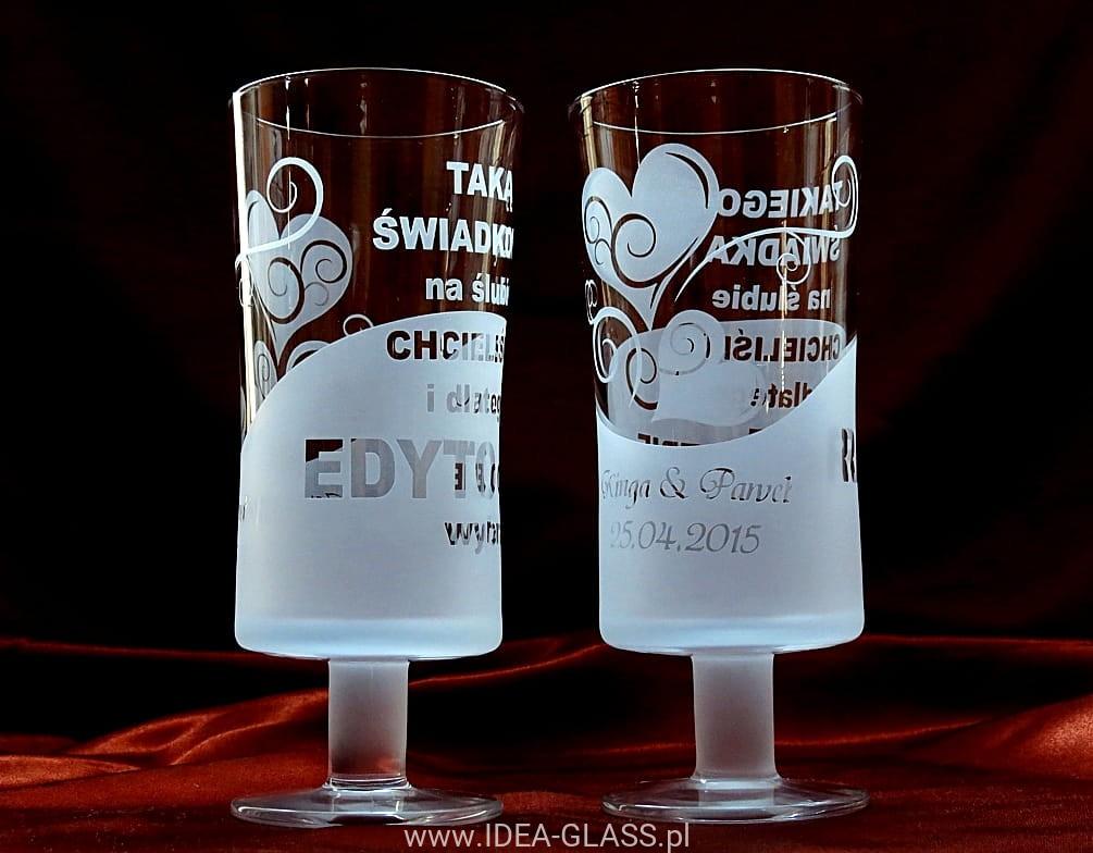 Szklanka Na Stopce Podziekowanie Dla Swiadkow Idea Glass